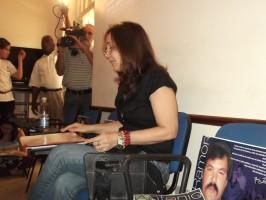 Mariela Castro Espín durante su conferencia en el taller Sexualidad y Derechos Humanos, una actividad que se sumó a la campaña por la liberación de los 5. Foto: Lisandra Puentes Valladares.