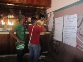 Uno de los grupos de trabajo de la Primera Capacitación Nacional de Jóvenes de Ciencias Médicas.