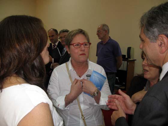 Michelle Demessine, membre de la commission des affaires étrangères, faisait partie de la  délégation sénatoriale.