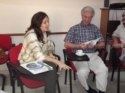 Mariela Castro Espín y Tabaré Vázquez durante la vista del exmandatario uruguayo al CENESEX