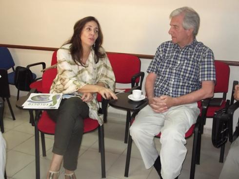 Mariela Castro Espín y Tabaré Vázquez