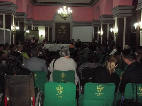 La primera sesión del evento. Hotel Nacional de Cuba