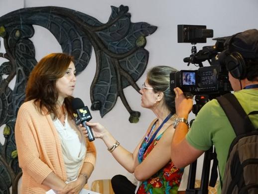 Mariela Castro Espín entrevistada por Telesur.